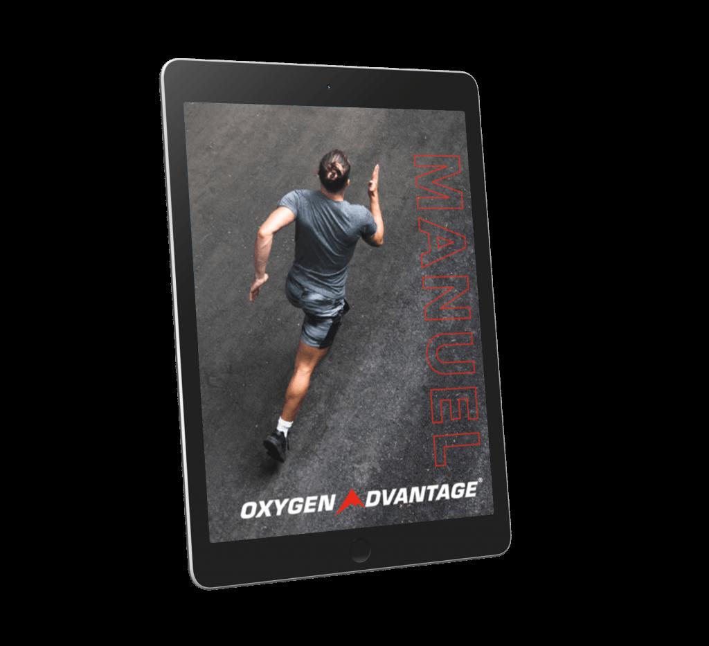Mockup sous format tablette du manuel oxygen advantage