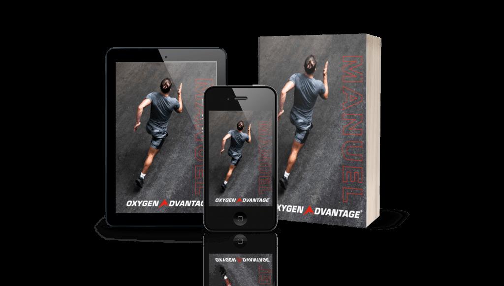 Mockup livre, tablette & smartphone du manuel Oxygen Advantage